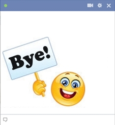 smiley facebook bye bye