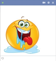 smiley facebook qui bave