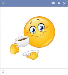 smiley facebook café