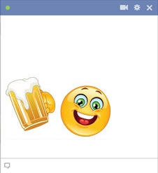 smiley facebook biere