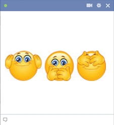 emoticone facebook trio