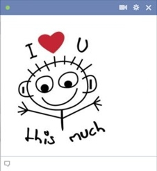 smiley facebook I love you this much je t'aime beaucoup