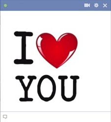 smiley facebook I love you je t'aime