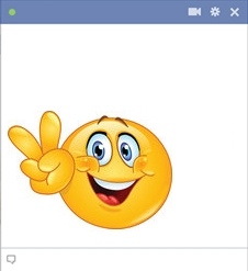 emoticone facebook peace paix