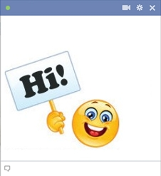 smiley facebook Salut
