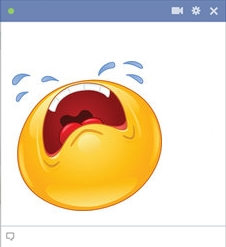 smiley facebook qui pleure