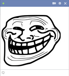 emoticone facebook trollface
